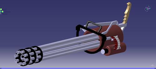 Gun Machine with Catia by hadira