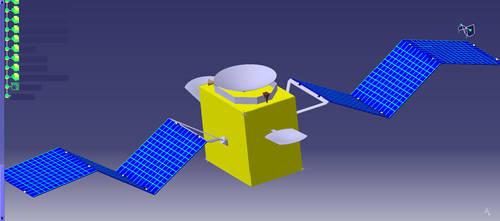satellite solar panel is opening by hadira