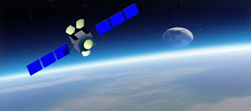 satellite in the space by hadira