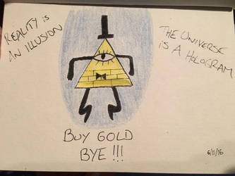 Bill Cipher from Gravity Falls by EvaMonkey