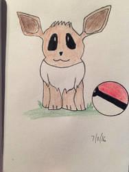 Eevee from Pokemon by EvaMonkey