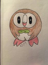 Rowlet from Pokemon by EvaMonkey