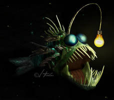 Angler fish by harlanm