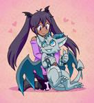 Digimon Debug - Mia and Gargoumon by Barghestmon