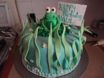 froggy birthday cake by panda-odono