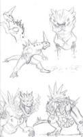 Larvitar Evolution by MikeDastardly