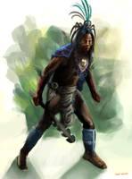 aztec warrior2 by emonteon