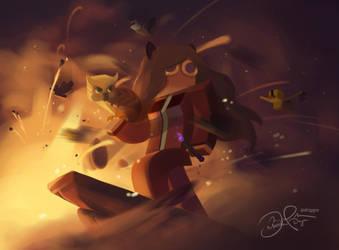 Explosive Birds by Driggor