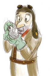 HA - Pigeon Man by SquirrelTamer