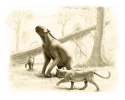 Chalicotherium and Nimravus by Olorotitan