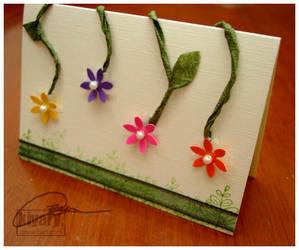 Card: Falling Flowers by kiyary