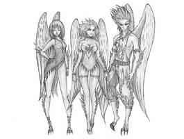 Realms Of Aundora: Avarion Trio by s0ulafein