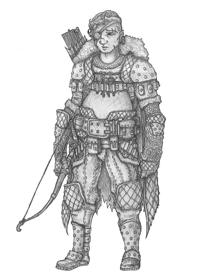 Ombert Bramblefoot - Halfling Rogue/Ranger by s0ulafein