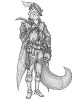 [COMMISSION]  Cu Sidhe - Kitsune Dirgesinger by s0ulafein