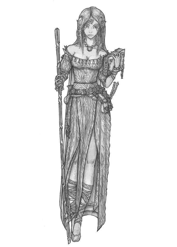 Baldur's Gate 2 - Aerie by s0ulafein