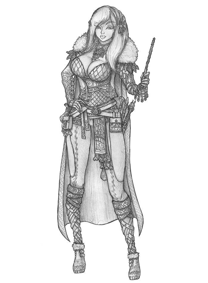 Mukhoto - Human Warlock by s0ulafein