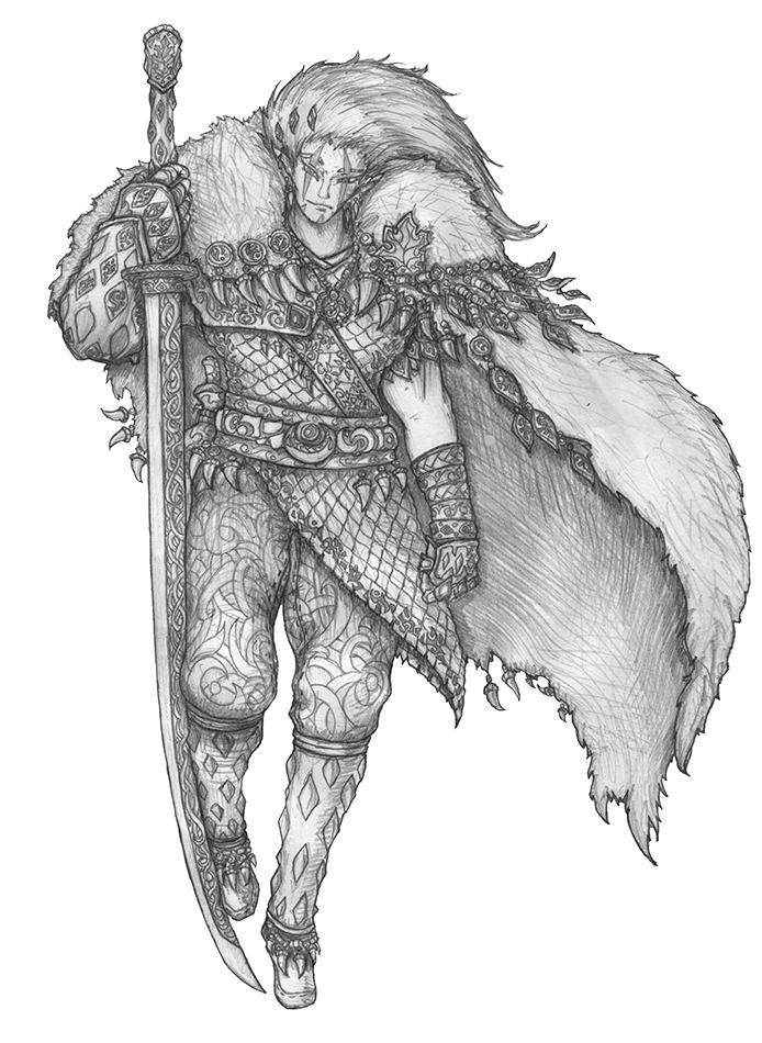 Soulafein Saerah 2.0 - Wood elf Barbarian by s0ulafein