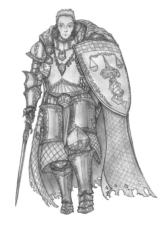 Jehuty - Human Cleric of Tyr by s0ulafein