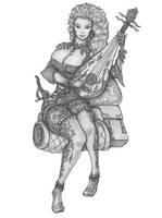 [COMMISSION] Shalana - Human Bard by s0ulafein