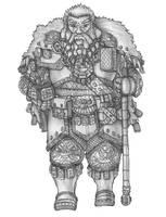 Hegrim - Dwarf Cleric/Hammer of Moradin by s0ulafein