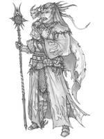 [COMMISSION] Garakas Shoremott - Tiefling Cleric by s0ulafein