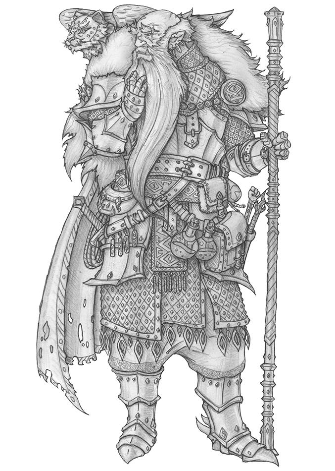 Half-Orc Wizard/Fighter by s0ulafein