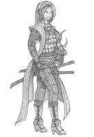 [COMMISSION] Terra - Elf Samurai by s0ulafein