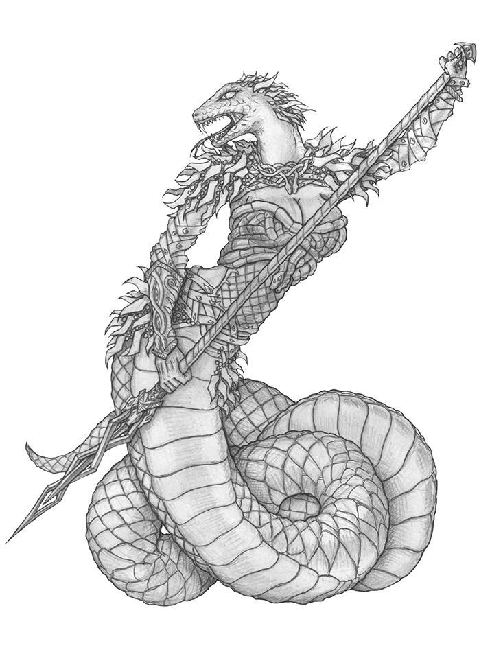 [COMMISSION] Snakegirl by s0ulafein