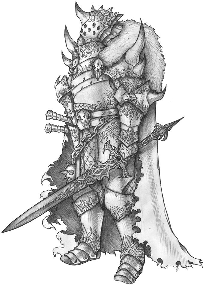 [COMMISSION] Eurack Blackrazor-Fighter/Barbarian by s0ulafein