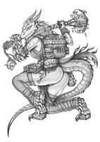 [COMMISSION] Nilaori - Dragonborn Cleric by s0ulafein