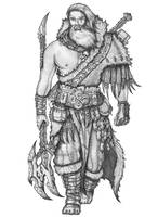 Rogan Ogrebane - Human Barbarian by s0ulafein
