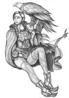 Sariandi Kanithar - Wood Elf Ranger by s0ulafein