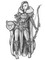 [COMMISSION] Amaryllis - Wood Elf Ranger by s0ulafein