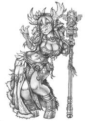 [COMMISSION] Faramu Wildmane - Tauren Druid by s0ulafein