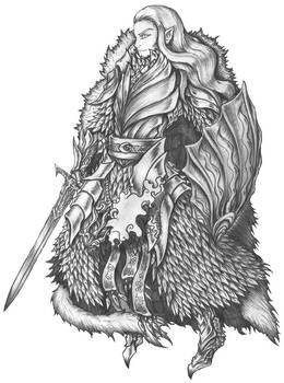 Aeron Silverleaf 2.0 - High Elf Warlock/Cleric by s0ulafein