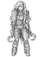 Fensira - Hafling Barbarian\Rogue by s0ulafein