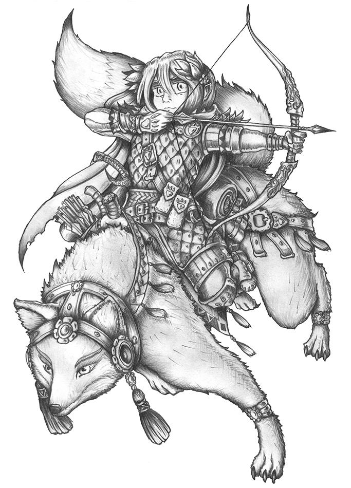 [COMMISSION] Breedysa Wolfwood - Gnome Ranger by s0ulafein