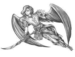 [COMMISSION] Idhrensul Ulumuri - Auran Elf Wu Jen by s0ulafein
