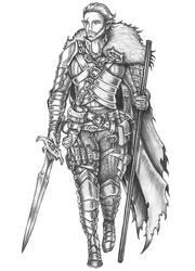 [COMMISSION] Alverein De Nelethas - Elf Warlock by s0ulafein