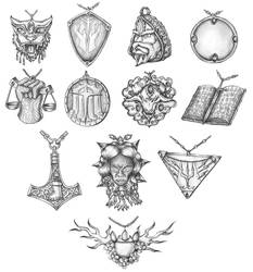 [COMMISSION] Holy symbols 12/14 by s0ulafein