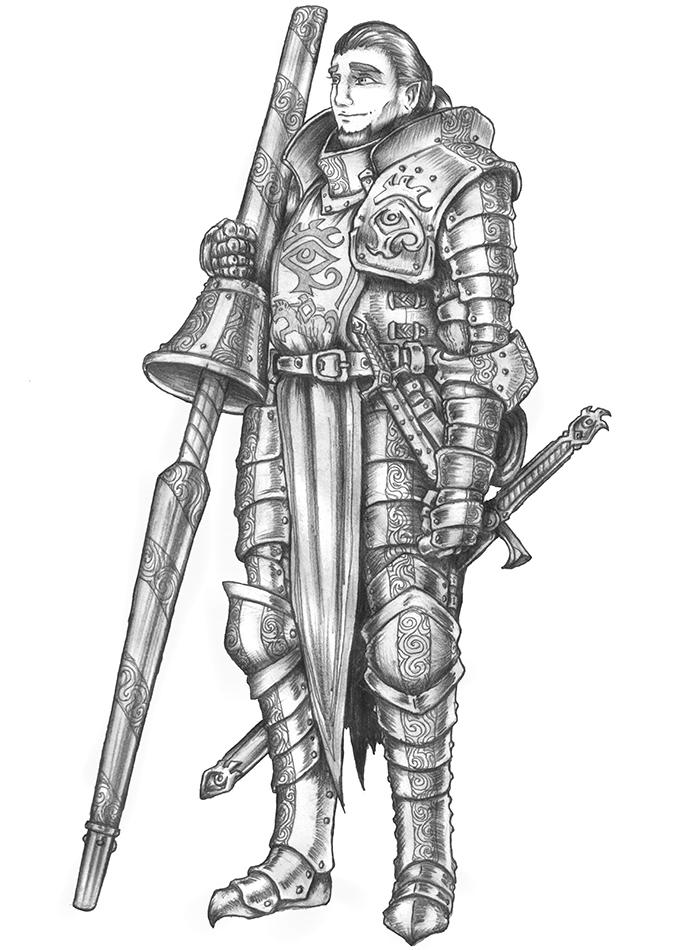 [COMMISSION] Tel'Adin - Human Fighter by s0ulafein