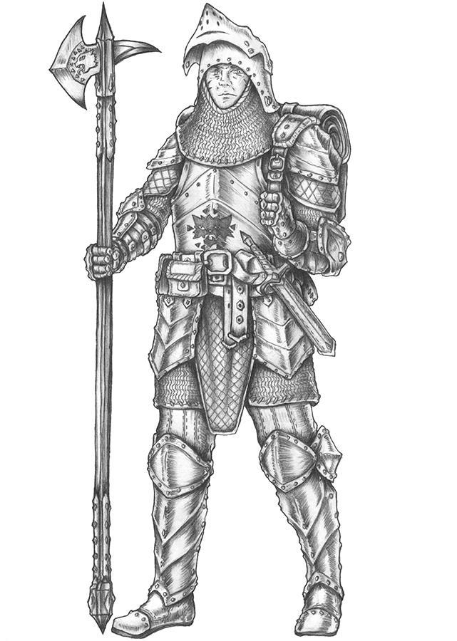 Brunio - Human Fighter by s0ulafein