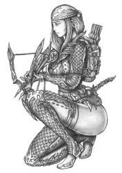 Shelel Whispereyes - Human Rogue (Assassin) by s0ulafein