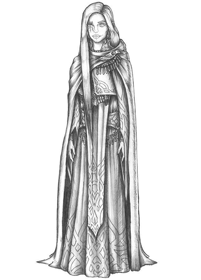 [COMMISSION] Hyrlin - Aasimar Divine Soul Sorcerer by s0ulafein