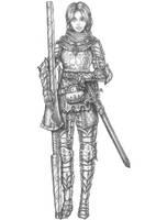 [COMMISSION] Ryllea D'woud - Elf Cavalier by s0ulafein