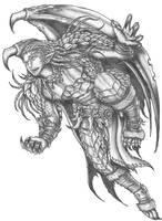 Soulafein Saerah - Wood Elf\Half-dragon Barbarian by s0ulafein