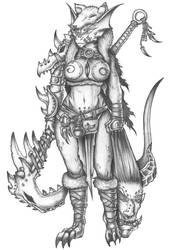 [COMMISSION] Sif Vas Thorn - Dragonborn Barbarian by s0ulafein