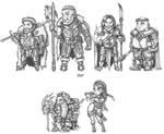 Cursed Lands Adventurers by s0ulafein