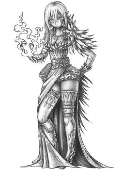 [COMMISSION] Lilith - Half-Drow Warlock by s0ulafein
