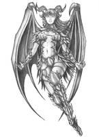 [COMMISSION] Elnorra - Half-Dragon Sorcerer by s0ulafein